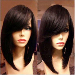 Wholesale Price Virgin Peruvian Human Hair Glueless Full Lace Wig Bob Wig pictures & photos