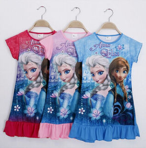 2014 Little Girl′s Cartoon Printing Brouse, Frozen Dress