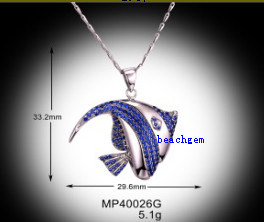 Fashion Fish Shape Pendant-925 Sterling Silver Jewelry (MP400026G)