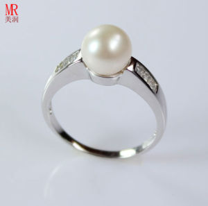 AAA Grade Natural Pearl Ring with Zircon (ER1605) pictures & photos