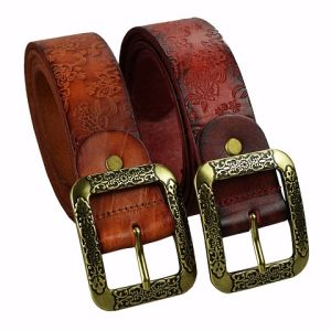 Tailor Smith Fashion Male Genuine Leather Belt Stylish Brown Top Quality Men′s Accessories pictures & photos