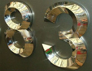 3D Polished Mirror Finished Titanium Letter