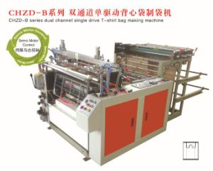 Chzd-B Series Dual Channel Single Drive T-Shirt Bag Making Machine (Factory) pictures & photos