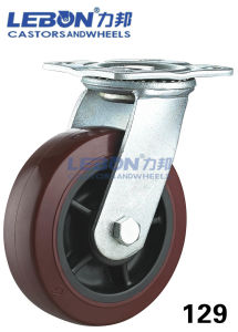 Heavy Duty Swivel Zinc Plated Polyurethane Wheel Caster