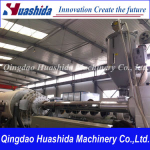 HDPE Water Gas Supplying Solid Pipe Extrusion Line pictures & photos