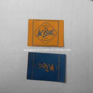Low Price and End Fold Woven Label (AMWL2014026)