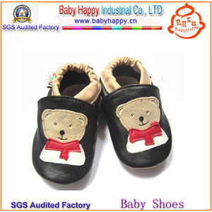 Latest Design Sheepskin Leather Cute Baby Leather Shoes