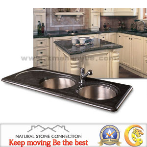 Man Made Black Granite Marble Stone Countertop for Kitchen