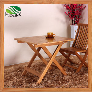 Portable Small Folding Outdoor Table with Bamboo (EB-B4051)