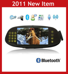 Bluetooth Car Kit Rearview Mirror with Touch Key, Backup Camera, MP3/MP4/MP5 (WD0609)