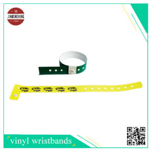 L Shape Tyvek Wristband with One Side Silk-Screen Printing pictures & photos