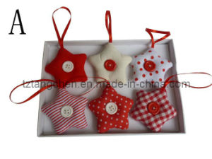 Fabric Star Tree Heart Shape Christmas Hanging for Decoration (TC-23082)