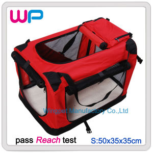Small Size Red Dog Travel Carrier with Bag (WS2141)