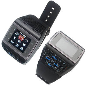 Quad Band Dual Cards Camera Compass Watch Mobile Phone (ET-2)