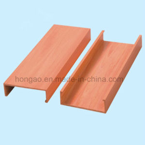 Insect-Resistant 100*25mm Wood Plastic Composite Indoor Decoration Ceiling