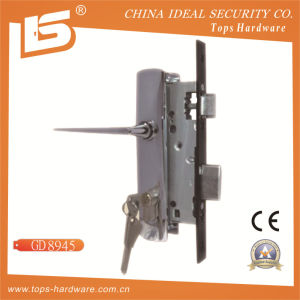 Aluminum Handle Iron Plate Mortise Lockset (8945) pictures & photos