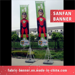 Hot Selling 3m 5m 7m Beach Flag, Water Base Outdoor Beach Flags