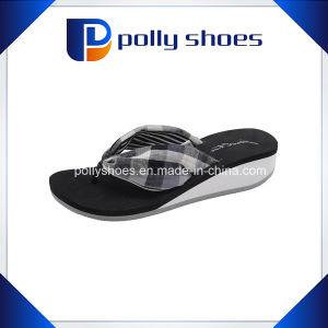 6da05314a69 China Hot Sale Female Thick High-Heeled Platform Flip-Flops Sandals ...