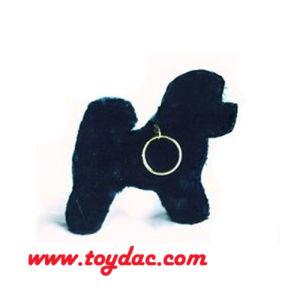 Plush Mini Black Dog Key Ring