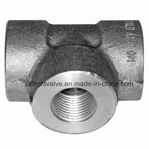 Forged Steel High Pressure Threaded/Socket Weld Reducing Tee pictures & photos