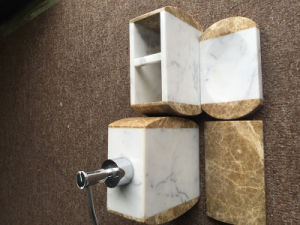 China Hot Popular Marble Bathroom Accessories Set China Bathroom