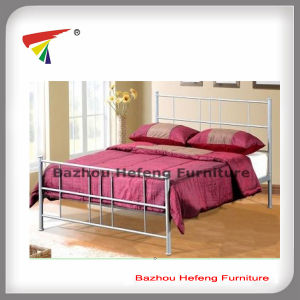 China Wholesale New Design Metal Double Bedqueen Size Bed Hf068