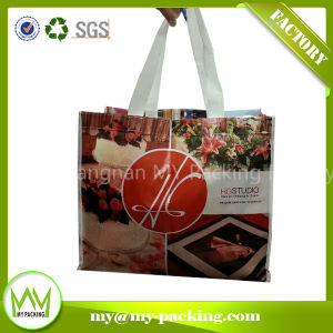 Custom Logo Print Advertising Laminated Nonwoven Carrying Bags pictures & photos
