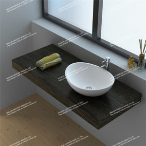 Modern Design Solid Surface Bathroom Mineral Casting Wash Basin/Sink (JZ9039)