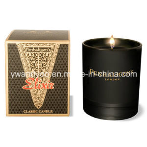 High Quality Scented Soy Candle in Black Glass Jar with Box