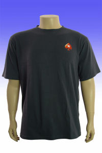 Good Quality Plain Cotton Black T-Shirt with Printing Logo pictures & photos