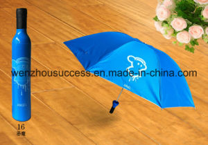 Cheapest Promotional Customized Wine Bottle Shape Umbrella pictures & photos