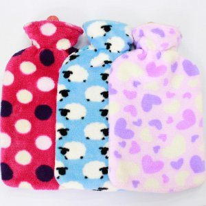 Cute/Lovely Hot Water Bag with Coral Fleece Cover pictures & photos