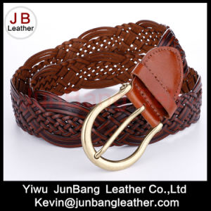 Fashion Women Bonded Leather Braid Belt pictures & photos