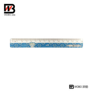 15 Cm Color Straight Plastic Ruler for School and Office Stationery