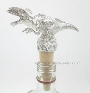 Newly Design Unique Dinosaur Wine Bottle Stopper, Solid Wood Wine Stopper pictures & photos