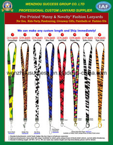 Pre-Printed Funny & Novelty Fashion Lanyards pictures & photos