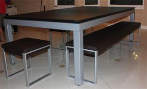 China FT Stainless Steel Pool Dining Table China Stainless Steel - Pool dining table 7ft