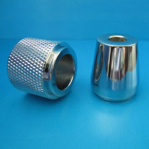 High Precision Aluminum 6061/6063/7075/2024 Custom CNC Lathe Parts with  Knurling and with Chrome Plating