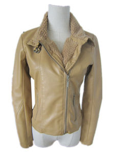 Winter Jacket, Woman Jacket, Fur Collar Leather Jacket