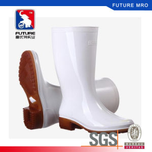 1ee950fe336 PVC White Rain Boots Work Safety Gumboots Men Boots for Food Processing  Workshop Cold Storage