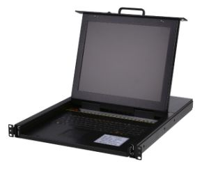 "1u Rack Mount Single Port 17"" LCD Kvm Switch pictures & photos"
