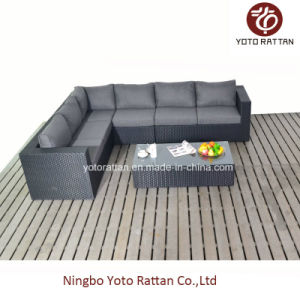 Black Long Corner Sofa for Outdoor (1302)