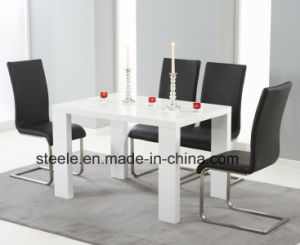 Dining Table with High Glossy MDF Dining Set