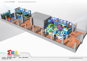 Ocean Themed Commercial Indoor Playground with High Quality