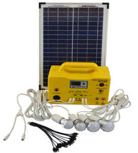 20W/12ah Solar DC System with 4 LED Bulbs