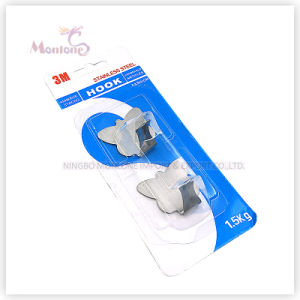26g 2PCS Hanging Hook, Stainless Steel Strongly Adhesive Hook (load: 1.5kgs) pictures & photos
