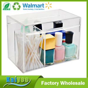 China Custom Clear Small Acrylic Multi Purpose Makeup Box With Lid
