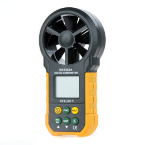 Ms6252A Digital Analog Anemometer Air Velocity Air Flow Measuring Instrument