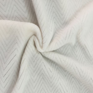 100% Polyester Wave 6 Jacquard Flannel Fleece
