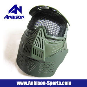 Anbison-Sports Quality Full Face Goggle Mesh Airsoft Paintball Mask pictures & photos